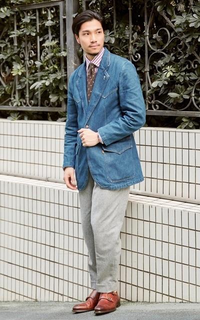 適合SMART CASUAL、圈入藍、CHAINLOOP STYLE、都會男子、HIPSTER CASUAL、西裝外套、橫圖比較美~~~~、LEVI'S VINTAGE CLOTHING、CHAINLOOP的穿搭