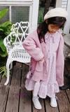 時尚穿搭:童裝穿搭-長版罩衫+蕾絲洋裝