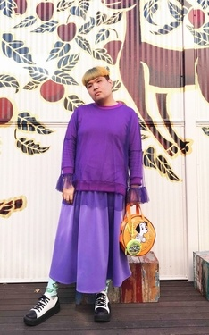 時尚穿搭:紫色の胖子