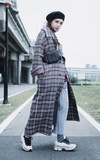 時尚穿搭:Plaid Coat