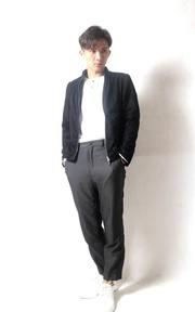 無品牌 麂皮立領外套的穿搭