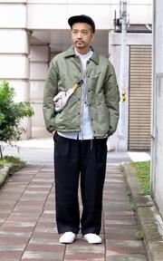 COP BY PLAIN-ME 彈性寬版落地西裝褲的穿搭
