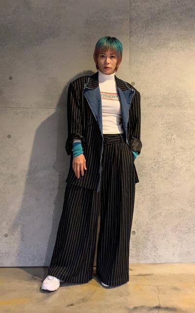 適合女生西裝、西裝外套、寬西裝、條紋西裝的穿搭