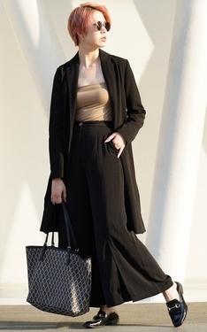 時尚穿搭:簡約黑
