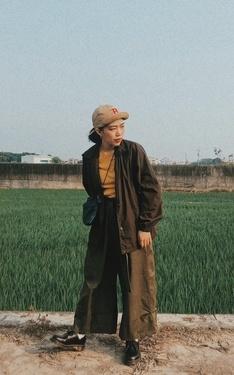 時尚穿搭:中性日系同色系