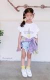 時尚穿搭:童裝穿搭- 粉黃+粉紫