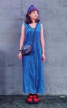 時尚穿搭:藍色小精靈👾