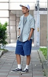 PLAIN-ME OOLMAX®吸濕快乾丹寧短褲的時尚穿搭