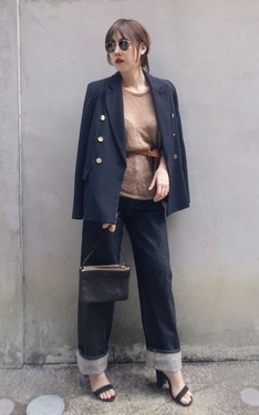 時尚穿搭:Tailored mixes denim
