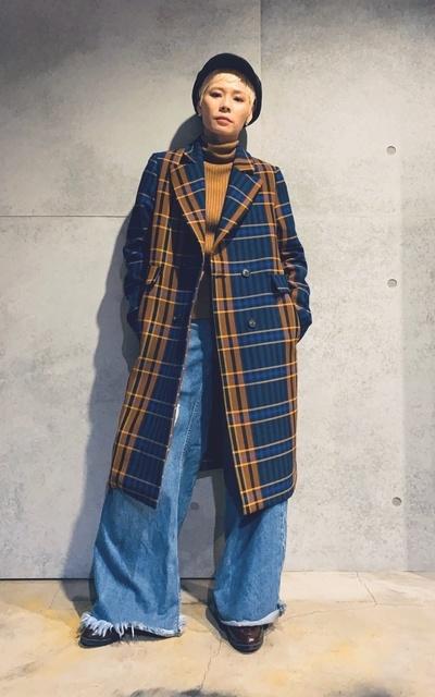 適合WINTER STYLE、格子外套的穿搭