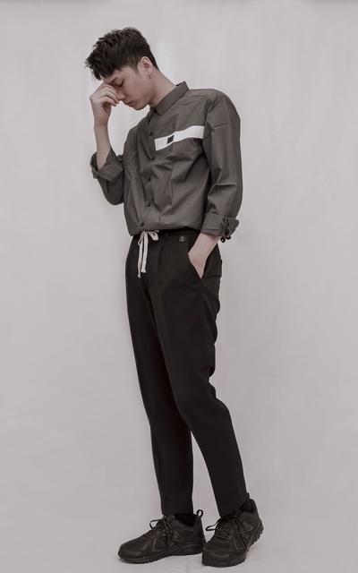 適合簡約時尚、襯衫、西裝褲、半正式、綁繩、ISFN 2019 S/S 春夏襯衫、ISFN 打摺西裝褲、ISFN的穿搭