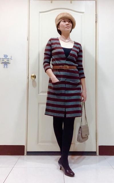 適合長版針織毛衣的穿搭
