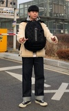 COVERNAT [COVERNAT] 20SS CORDURA AUTHENTIC SPIDER RUCKSACK BLACK的時尚穿搭