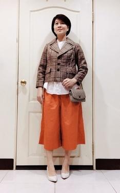 時尚穿搭:古著+桔