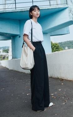 時尚穿搭:藍天白雲與鍾晴