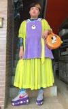 時尚穿搭:紫黃の胖子