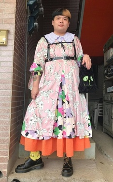 時尚穿搭:紛花橘の胖子