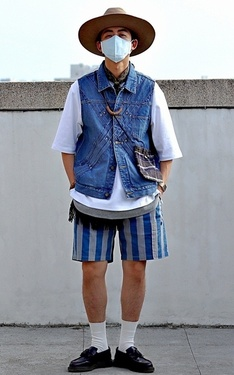 時尚穿搭:藍白