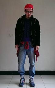 無品牌 H BOY 厚絨布舖棉外套的穿搭