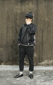 NONNATIVE BOMBER JACKET的穿搭
