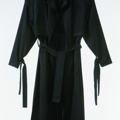JOLIN WU 的 18春夏SS 黑色長板風衣外套