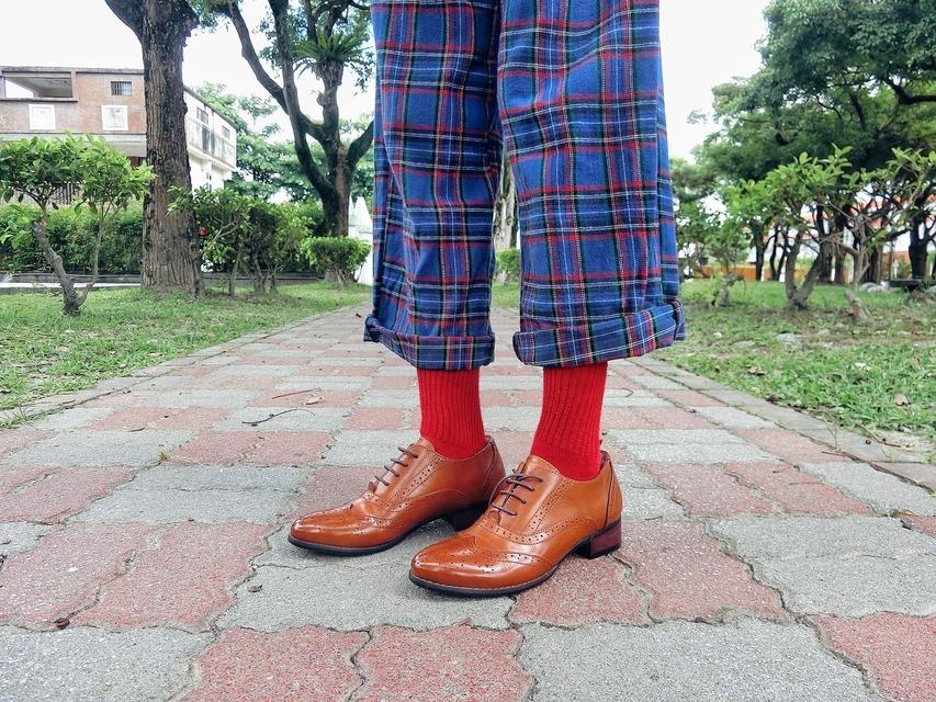 VINGATE 的 格紋寬褲