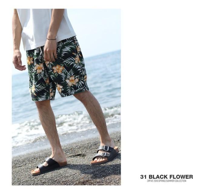 ZIP 的 印花海灘褲