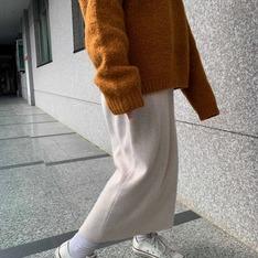 STUDIO DOE 的 毛料裙