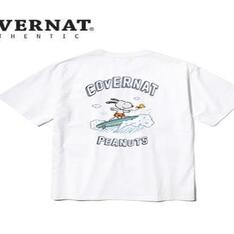 COVERNAT 的 CXPEANUTS 70TH SURFING SNOOPY TEE WHITE