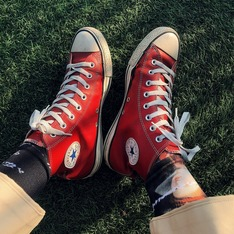 CONVERSE 的 高筒運動鞋