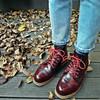 FIND 的 經典酒紅靴
