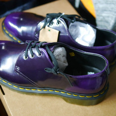 DR. MARTENS 的 DR. MARTENS 1461 VEGAN PURPLE