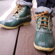 BEAMS X LLBEAN 的 靴子