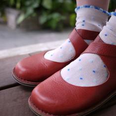 BLACK JACK 的 皮革娃娃鞋