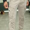 灰色仿舊工作褲