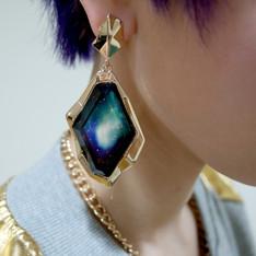 LAZY CAT 的 美式銀河耳環