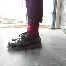 RADICALXREBEL 的 漆皮雕花皮鞋