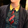 無品牌 的 紅藍盾牌條紋皇家學院領帶