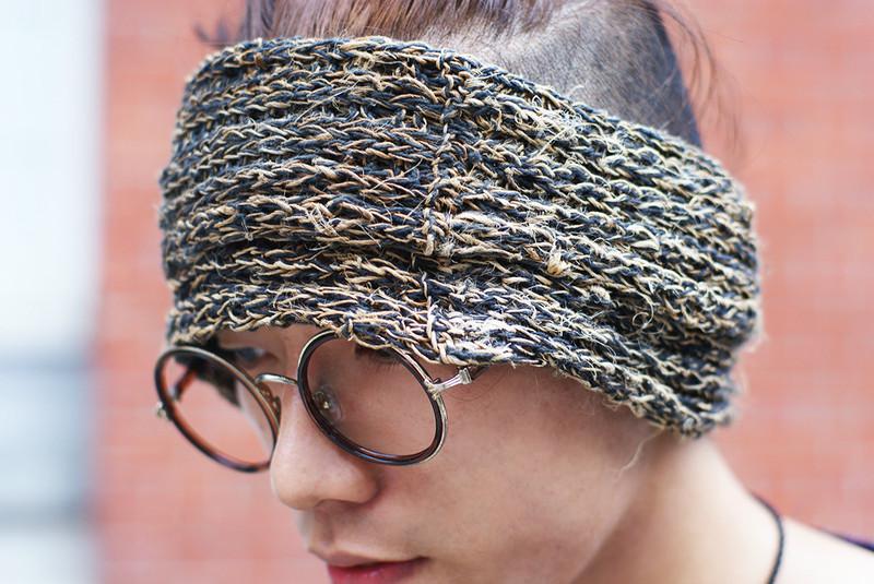 OMAKE 的 麻編髮帶