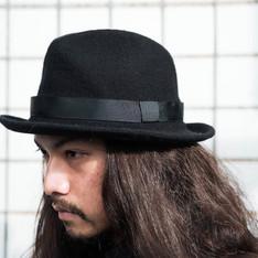 MUJI 無印良品 的 黑毛呢紳士帽