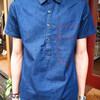 CHAINLOOP 的 短袖單寧襯衫