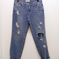 無品牌 的 破壞感牛仔褲