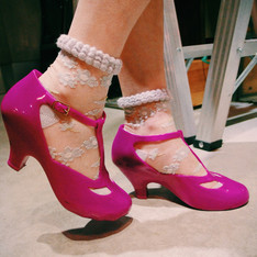 VIVIENNE WESTWOOD X MELISSA 的 香氛桃紅瑪麗珍雨鞋