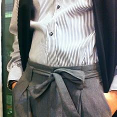 STONE'AS 的 綁帶西裝褲