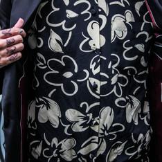 70'S 的 花紋絲綢襯衫