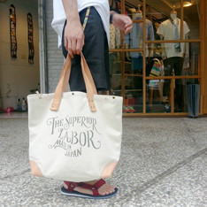 PLAIN-ME、THE SUPERIOR LABOR 的 經典帆布MARKET BAG