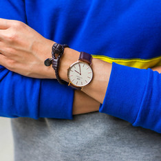 BOTTEGA VENETA AND DANIEL WELLINGTON 的 BRACELET AND WATCH