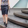 ZARA 的 皮革鉛筆裙