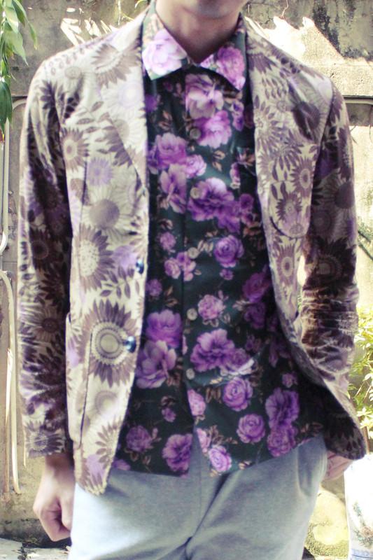 TRAD PHILOSOPHY、EDGAR EEVEN POE 的 花紋西裝外套、夏威夷襯衫