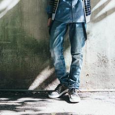 LEE 的 刷色牛仔褲